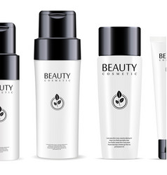 big cosmetic products set shampoo and conditioner vector image