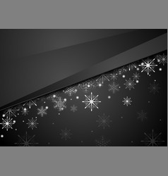 black abstract snowflakes christmas corporate vector image