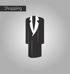 Black and white style icon mans coat vector
