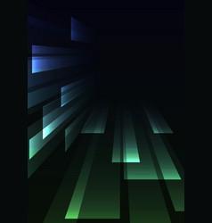Blue green overlap stripe rush in dark background vector
