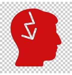 Brain Electric Strike Icon vector
