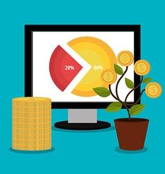 Business profit design vector