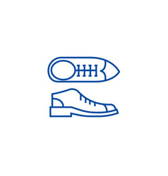 businessman shoes line icon concept businessman vector image