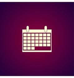 calendar - icon vector image
