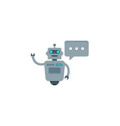 chat robot logo icon design vector image