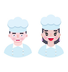 Cheerful and happy cook vector