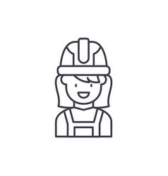 construction master line icon concept vector image