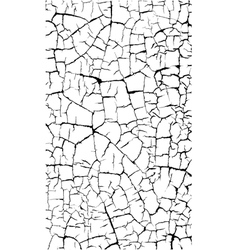 Crackled paint craquelure pattern over white vector
