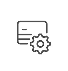 credit card setting line icon vector image