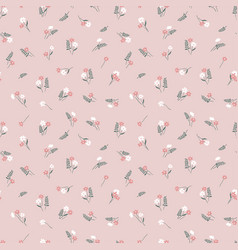 Cute ditsy seamless pattern - hand drawn floral vector