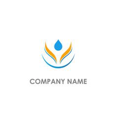 Droplet eco pure oil beauty logo vector