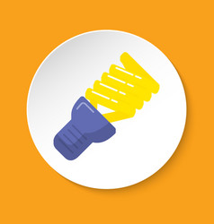 energy saving light bulb icon in flat style on vector image
