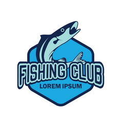 Fishing logo with text space for your slogan vector