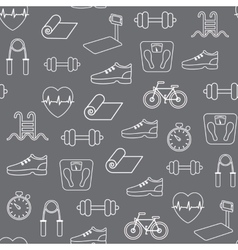 Fitness seamless pattern background vector image