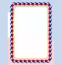Frame and border of ribbon with philippines flag vector
