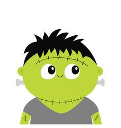 Frankenstein monster cute cartoon funny spooky vector