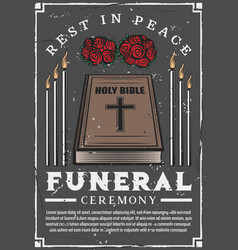 Funeral service burial ceremony agency vector