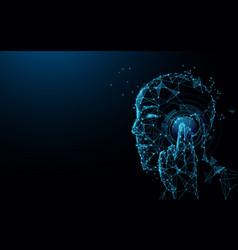Futuristic telecommunication technology concept vector