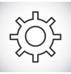 Gear Silhouette icon design graphic vector image