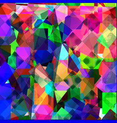 geometric abstract vivid background vector image