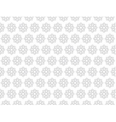 gray flower pattern seamless for backdrop vector image