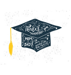 Greeting card with congratulations graduate vector
