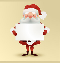 happy character of santa claus holding a christmas vector image
