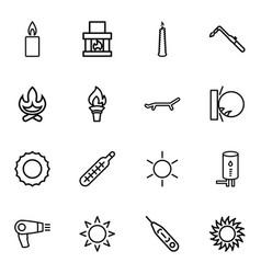 heat icons vector image