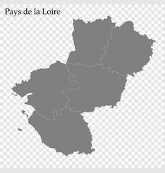 High quality map region france vector