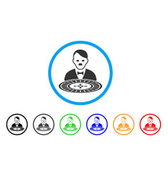 Hitler roulette croupier icon vector