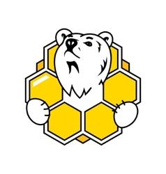 Honey Bear sign vector image