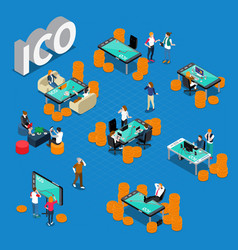 ico concept isometric composition vector image