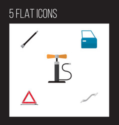 icon flat auto set of pumping air coupler vector image