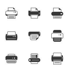 Icons for theme printer vector