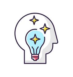 Idea generation rgb color icon vector