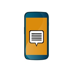 Isolated cellphone vector image