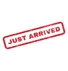 Just Arrived Text Rubber Stamp vector image
