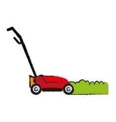 lawn mower gardening tool icon image vector image