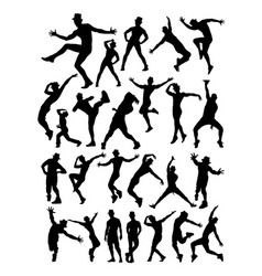 Male dancer detail silhouette vector