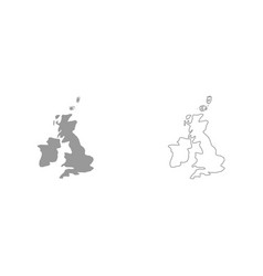 Map of united kingdom it is icon vector