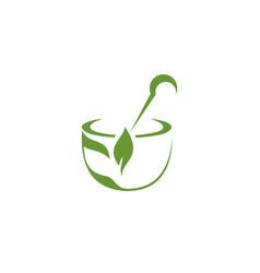 medical herbal logo vector image