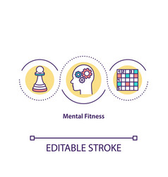 Mind fitness concept icon vector
