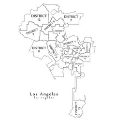 modern city map - los angeles city of the usa vector image