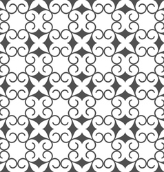 Monochrome abstract seamless stylized flower vector