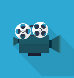 movie projector icon set of great flat icons vector image