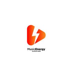 Music energy logo design template vector