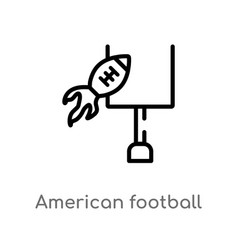 Outline american football annotation icon vector