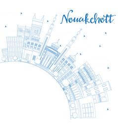 outline nouakchott mauritania city skyline with vector image