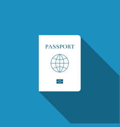 Passport with biometric data icon isolated vector