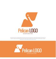 pelican bird logo design vector image